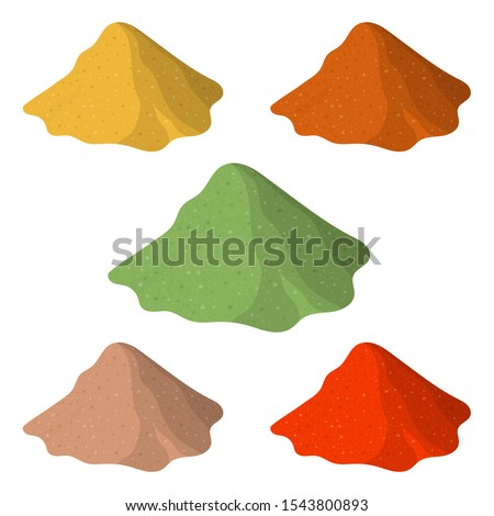 Different powders vector design illustration isolated on white background