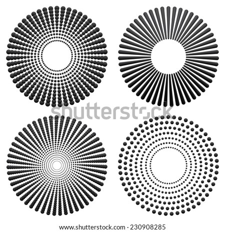 different radial  concentric