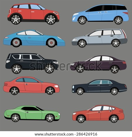 different range of cars set