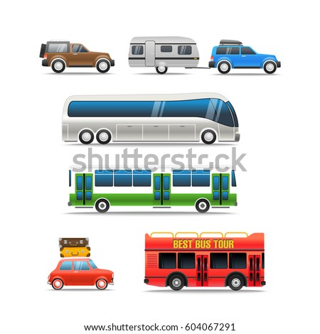 Different road vehicles vector clip-art