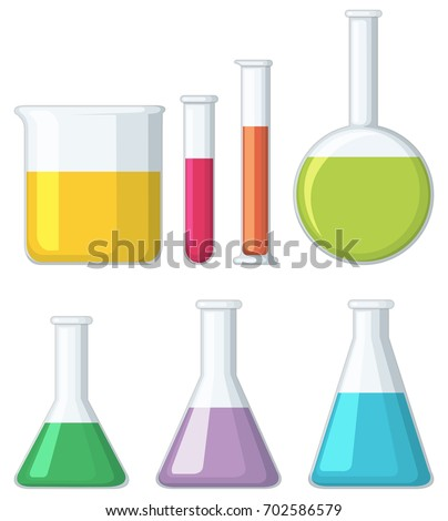 different shapes of beakers