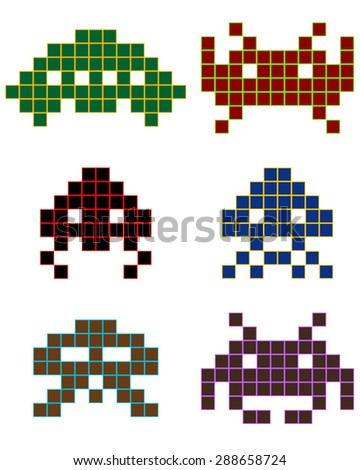 different shapes of pixels of
