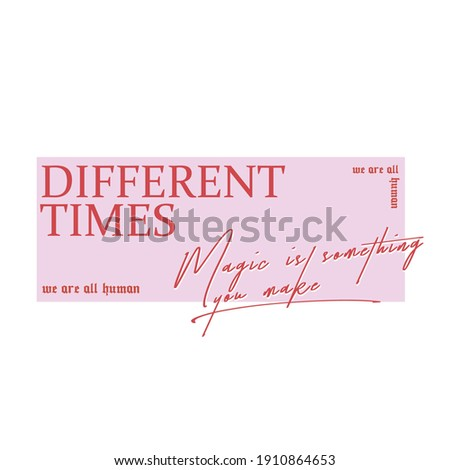Different slogan for t shirt design. Typography graphics for modern tee shirt. Stock photo ©
