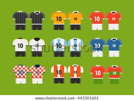 different soccer team t shirts