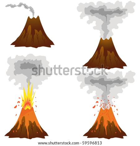 Three Stages of a Volcano