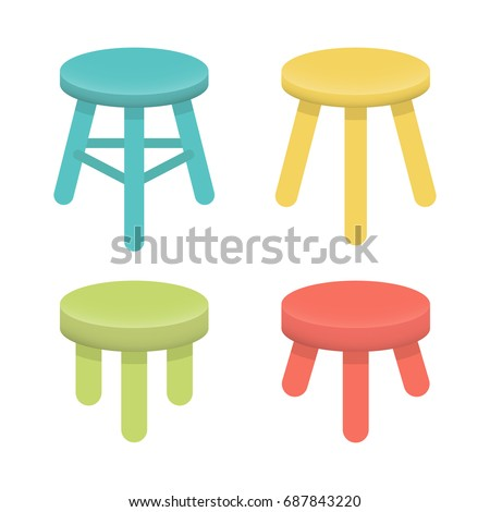 different stool with three legs