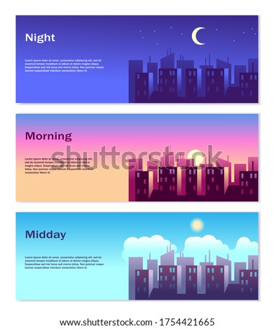 different time of day banners