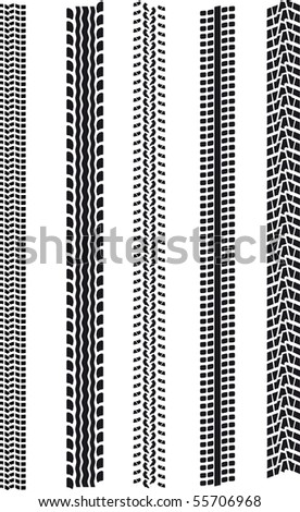 different tire patterns - stock vector