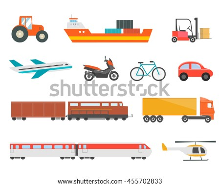 different transport vehicles