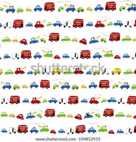 Different transports pattern for kids and childhood backgrounds