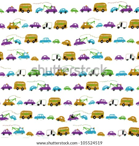 Different transports pattern for kids background