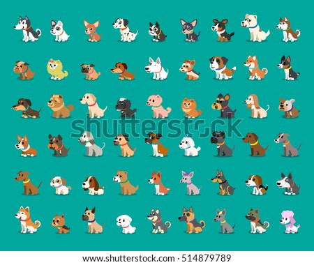 Shutterstock Different type of cartoon dogs