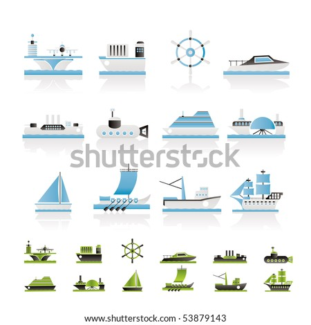 different types of boat and