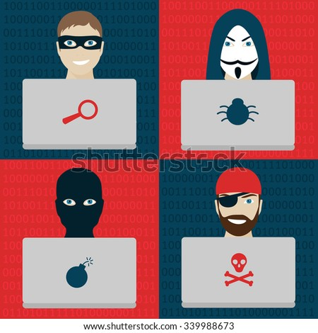 different types of hackers men