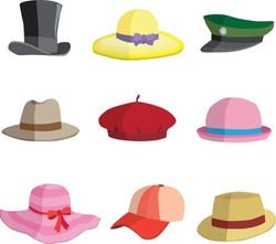 Different types of hat collection 1