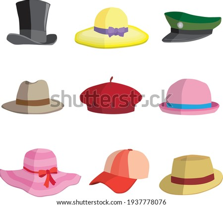 Different types of hat collection 1 Zdjęcia stock ©