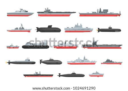 different types of naval combat