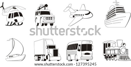 different types of transportation for people and goods