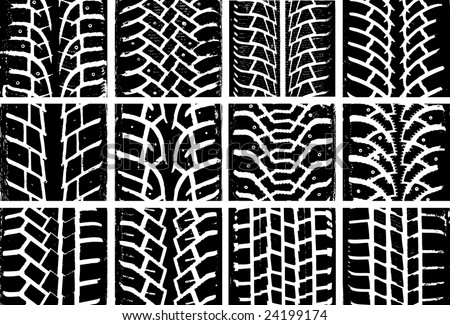Different tyre tracks