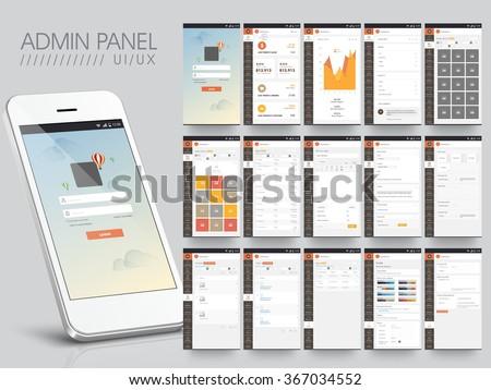 different ui  ux  gui screens