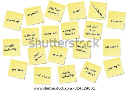 different urgent paper memo notes vector image