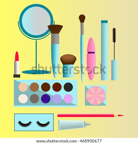 Different vector cosmetic items