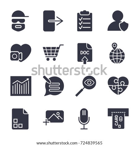 different vector icons simple