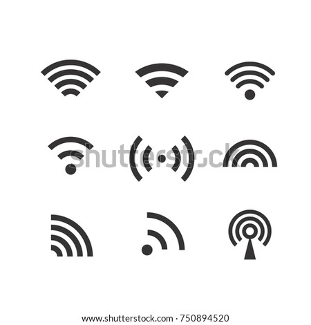 Different wireless connection pictograms vector clip-art