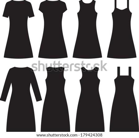 different women dresses vector