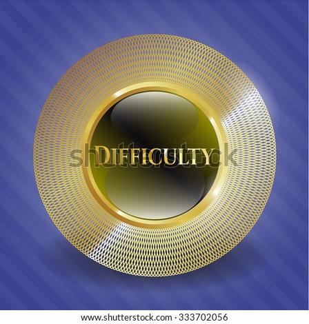 Difficulty golden badge