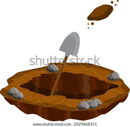 digging a hole shovel and dry