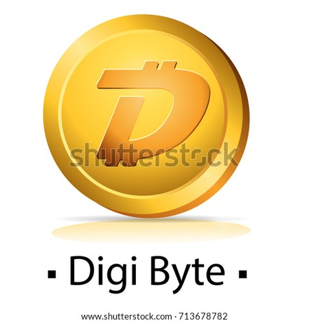 digi byte gold coin with