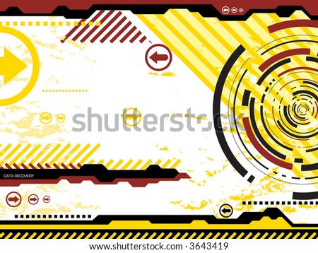 Digital abstract background illustrated in bright colors ideal for a presentation