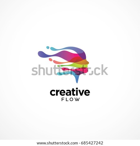 Digital Abstract Colorful Logo for Creative