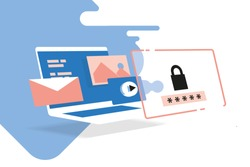digital access, cyber security, online safety, computer and data protection, secure connection, Isometric illustration