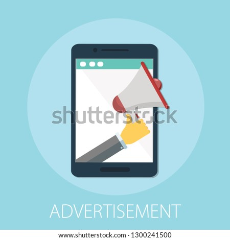 Digital advertising, email message marketing vector concept, online conference, media promotion, speaker illustration