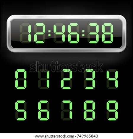 Digital alarm clock. Vector illustration. Eps 10.