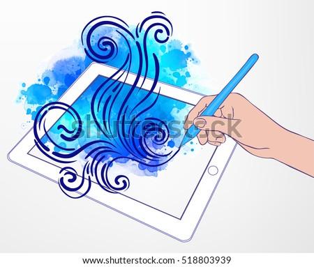 digital art creating