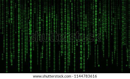 digital background green matrix