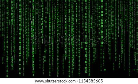 digital background green matrix