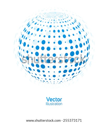 digital ball vector