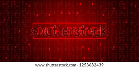 Digital Binary Code on Dark Red Background. Data Breach Foto d'archivio ©