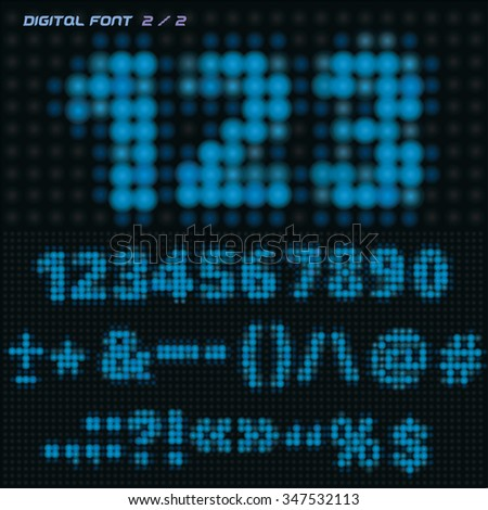 digital board font
