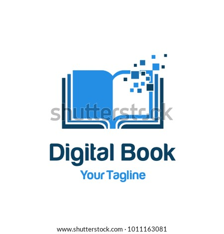 digital book logo template
