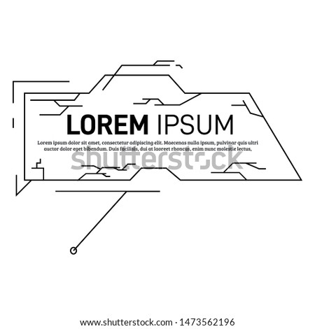 Digital callout title. HUD futuristic sci fi frame template. Vector design of form for titles bar for infographics, advertising, video production
