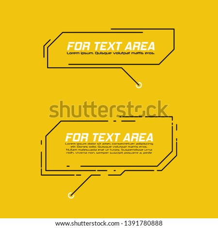 Digital callouts titles. Set of HUD futuristic sci fi frame template. Layout element for web, brochure, presentation or infographics.