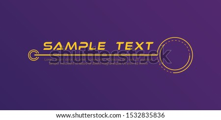 Digital callouts titles. Set of HUD futuristic sci fi frame template. Layout element for web, brochure,  infographics. Modern banners of lower third for presentation isolated on purple. Vector