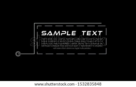 Digital callouts titles. Set of HUD futuristic sci fi frame template. Layout element for web, brochure,  infographics. Modern banners of lower third for presentation isolated on black. Vector