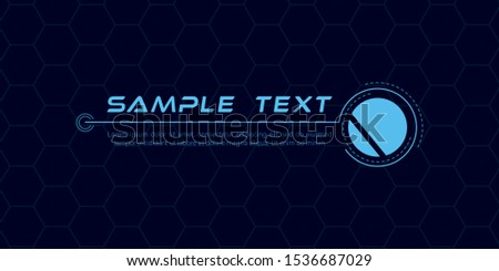 Digital callouts titles. Set of HUD futuristic sci fi frame template. Layout element for web, brochure,  infographics. Modern banners of lower third for presentation isolated on blue. Vector