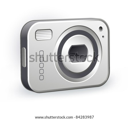 digital camera an a white background